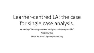 single case methodology