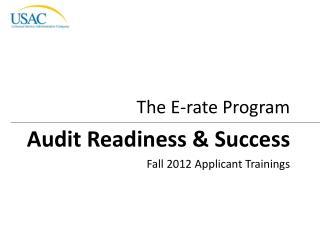 Fall 2012 Applicant Trainings