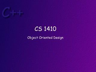 CS 1410