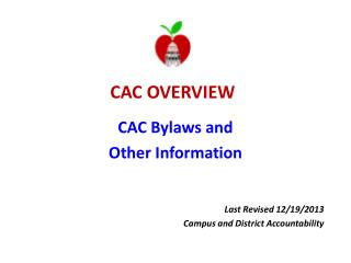 CAC  OVERVIEW