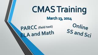 CMAS Training