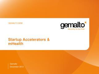 Startup Accelerators & mHealth