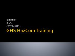 GHS HazCom Training
