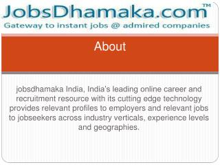 Jobsdhamaka - Jobs for everyone just in one click