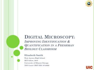 Digital Microscopy : Improving  Identification & Quantification  in a Freshman Biology Classroom