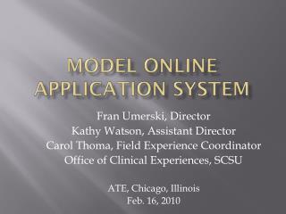 Model Online Application System