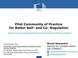 Pilot Community of Practice for Better Self- and Co- Regulation