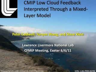 CMIP Low Cloud Feedback Interpreted  T hrough a Mixed-Layer Model