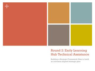 Round 2: Early Learning Hub Technical Assistance