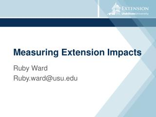 Measuring Extension Impacts