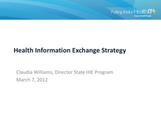 Health Information Exchange Strategy