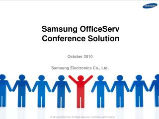 Samsung  OfficeServ Conference Solution