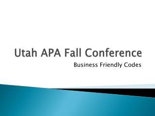 Utah APA Fall Conference