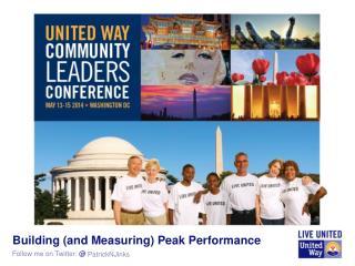 Building (and Measuring) Peak Performance
