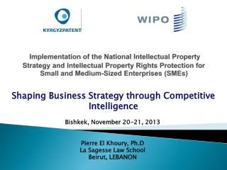 Bishkek, November 20-21, 2013 Pierre El Khoury, Ph.D La Sagesse Law School Beirut, LEBANON