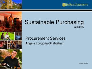 Sustainable Purchasing GR001A