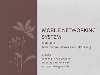 Mobile networking system