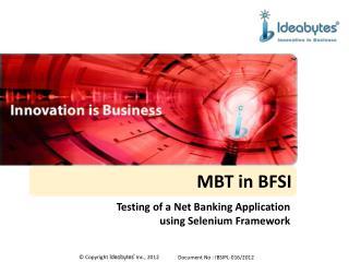 MBT in BFSI