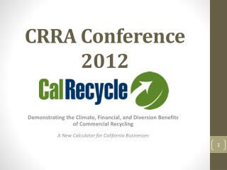CRRA Conference 2012