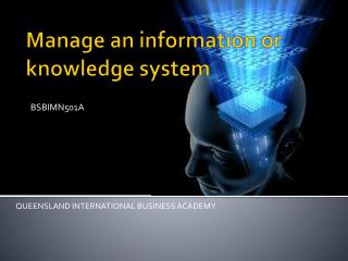 Manage  an  information or knowledge system