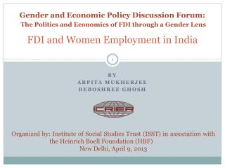 FDI and Women Employment in India