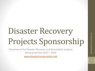 Disaster Recovery Projects Sponsorship