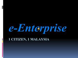 1 citizen, 1 Malaysia
