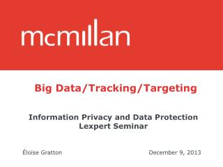 Big Data/Tracking/Targeting