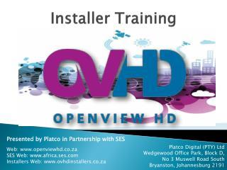 Installer Training