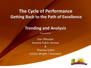 The Cycle of Performance  Getting Back to the Path of Excellence