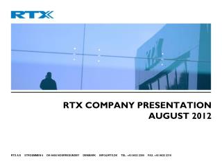 RTX Company Presentation August 2012
