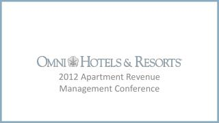 2012 Apartment Revenue Management Conference
