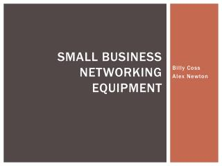 Small Business Networking Equipment
