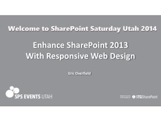 Enhance SharePoint 2013 With Responsive Web Design