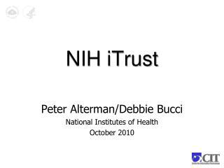 NIH iTrust