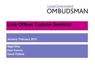 Link Officer Liaison Seminar