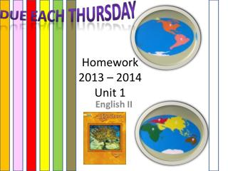 Homework 2013  –  2014 Unit  1