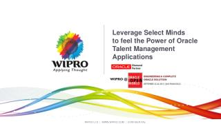 Leverage Select Minds  to feel the Power of Oracle Talent Management Applications