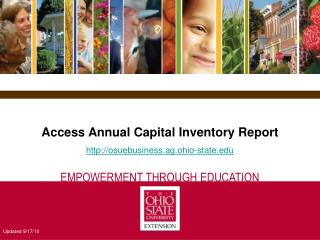 Access Annual Capital Inventory Report http://osuebusiness.ag.ohio-state.edu