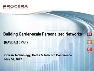 Building Carrier-scale Personalized Networks
