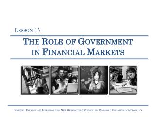 The Role of Government  in Financial Markets
