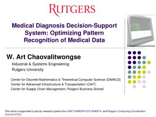 Medical Diagnosis Decision-Support System: Optimizing Pattern Recognition of Medical Data