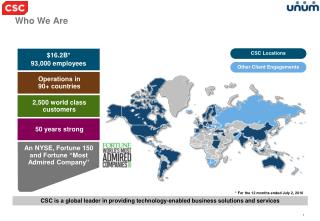 CSC is a global leader in providing technology-enabled business solutions and services