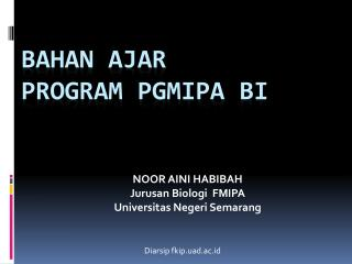 BAHAN AJAR  program  pgmipa  bi