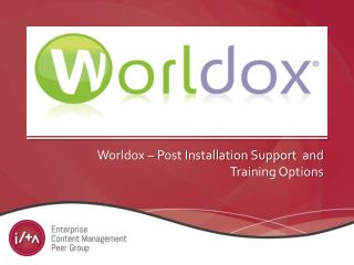 Worldox  – Post Installation Support  and Training Options