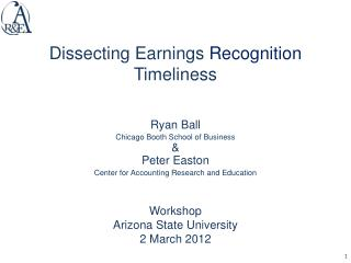 Dissecting Earnings  Recognition Timeliness