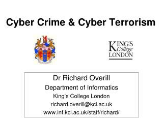 Cyber Crime & Cyber Terrorism