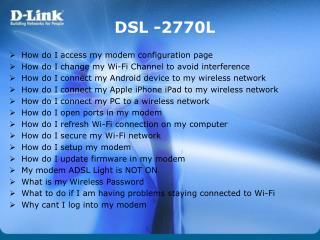 DSL -2770L