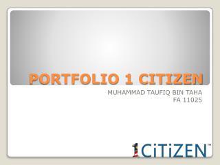 PORTFOLIO 1 CITIZEN