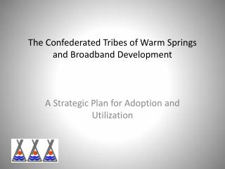 The Confederated Tribes of Warm Springs and Broadband Development